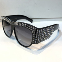 Wholesale eyes sunglasses for sale - 0144 Designer Sunglasses For Women Limited Edition Sparkling Diamond Frame Popular UV Protection Sunglasses Top Quality Fashion Summer Style
