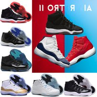 Wholesale Gold Velvet Sport - with box high cut New air Retro 11 Velvet Heiress red blue Suede Basketball Shoes Men Spaces Jams 11S XI Authentic Sports Shoes