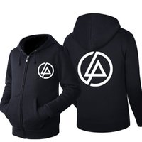 ingrosso giacche di metalli pesanti-linkin Park Heavy metal music zipper hoodie men Hip Hop Hoodie Black Jacket Men Clothes Fashion cerniera lampo Hombre