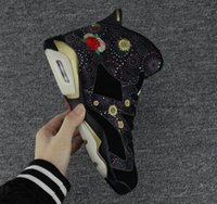 Wholesale chinese new year goods - Good Quality VI CNY Chinese New Year Rose Flowers Gold buckle Mens Women Basketball Shoes s OG GS Woman Sneakers Size