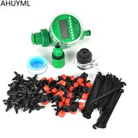 Wholesale garden hose - 20M DIY Automatic Micro Drip Irrigation System Plant Watering Garden Hose Kits With Adjustable Dripper Smart Controller Suits