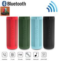 Wholesale wireless speakers for hi fi online - T2 Bluetooth Speaker Waterproof Portable Outdoor Wireless Mini Column Box Speaker Support TF card FM Stereo Hi Fi Boxes