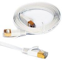 patch lan achat en gros de-Câbles RJ45 de cat. 6 de câble Ethernet de réseau plat Internet de réseau LAN pour le modem de routeur 0.5 / 1.5M