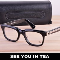 Wholesale high quality tea for sale - Group buy SEE YOU IN TEA High quality fashion silver jewelry brand plate glass frame male Men myopic glasses eyeglasses for me