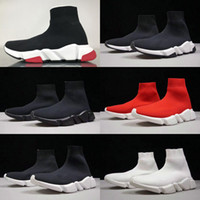 nuevas botas de velocidad al por mayor-2019 New Sock Shoe Speed Boots Shoes High Quality Speed Calcetines Race Runners black Shoes hombre y mujer Boots Shoes