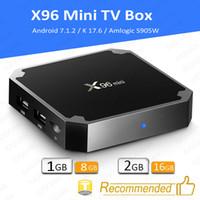 Wholesale wholesale 16gb flash for sale - X96 Mini Android Amlogic S905W STB tv box GB GB GB GB eMMC Flash player K Smart Android TV Box VS tx3 MXQ Pro