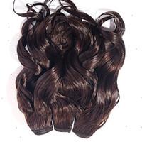 auburn remy pelo virgen al por mayor-Producto especial Extensiones de cabello humano malasio 10-30 pulgadas Castaño castaño castaño castaño oscuro Color de cabello virgen Exrtension 6a Pelo remy