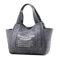 Wholesale Vintage Handbags Hobo - New Vintage Canvas Women Handbags Large Capacity Design Ladies Tote Bag Solid Shoulder Bag Casual Travel Bag Bolsos Mujer