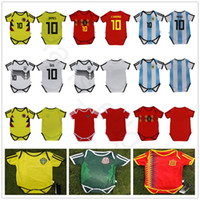 Wholesale baby full month - Baby Soccer Jersey For 6 To 18 Month 2018 World Cup Argebtina Spain Mexico Colombia Belgium Sweden Russia Kid Football Shirt Jersey