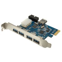 Wholesale pci internal usb - Brand New PCI-E Express Adapter 4+1 Port USB 3.0 HUB Internal Expansion Card Top Quality