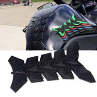 motocicleta do tanque de gás da fibra do carbono venda por atacado-Fibra De carbono 3D Tanque Da Motocicleta Almofada Anti-scratch Tankpad Petróleo Protetor De Gás Adesivo Para Honda kawasaki yamaha suzuki