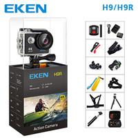 spor için video kameralar toptan satış-EKEN H9 Eylem Spor Kamera H9R wifi Ultra HD Mini Kam 4 K / 25FPS 1080 p / 60fps 720 P / 120FPS sualtı Su Geçirmez Video Spor Kamera