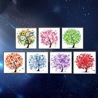 árvore de pintura diamante diy venda por atacado-Praça diy 5d pintura de diamantes mágicos pepi tree pachira macrocarpa padrão de suspensão artesanato para decoração de casa sem moldura cruz bordado 9tz por