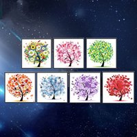 Wholesale hanging floral wholesale - Square DIY 5D Magic Diamond Painting Pepi Tree Pachira Macrocarpa Pattern Hanging Crafts For Home Decor Frameless Cross Embroidery 9tz BY