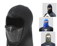 männer gesicht maske winter großhandel-Warme Balaclava Vollgesichtsmaske Abdeckung Winter Fleece Warmer Wind Proof Gesichtsmaske Fit Helm Hut für Erwachsene Frauen Mann