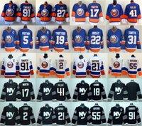 nouveaux maillots de hockey sur glace noirs achat en gros de-Chandails de hockey des Islanders de New York Ice 2 Nick Leddy 17 Matt Martin 13 Mathew Barzal 41 Jaroslav Halak Johnny Boychuk Bleu blanc noir