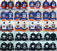 neue schwarze eishockey-trikots großhandel-New York Islanders Eishockey Trikots Ice 2 Nick Leddy 17 Matt Martin 13 Mathew Barzal 41 Jaroslav Halak Johnny Boychuk Blau Weiß Schwarz