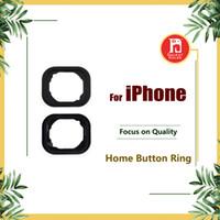 abstandsringe großhandel-Home Button Gummidichtung Für iPhone 5 6S 6 Plus Tastatur Gummidichtung Gadget Aufkleber Adhesive Holder Cap Pad Ring Spacer