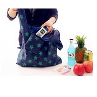 katlanır taşıma çantası dükkanı toptan satış-210D oxford Katlanır Carry-on Çanta Katlanabilir Alışveriş çantası Eko kullanımlık taşınabilir kolu çanta alışveriş çantaları ücretsiz kargo