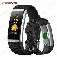 Wholesale remote control massage - SOVO Sport Smart Band FIT HR2 Heart Rate Monitor Waterproof Fitness Bracelet Massage Notification Smart Wristband Android IOS