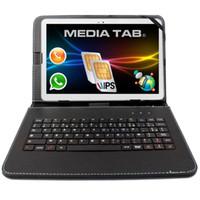 android tablette kostenlos 3g großhandel-10,1 Zoll 10-Zoll-Tablet PC Android 7.0 Dual-SIM-Karten GPS-Telefon 64G Unterstützung WCDMA 3G Free Tastatur Abdeckung als Geschenk