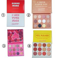 смешивать косметику оптовых-Новый ColourPop Косметика для макияжа палитры 12 цветов палитры теней для век MIX DHL Бесплатная доставка универсальный 12 цветов / комплект