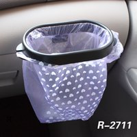 araba çöp torbaları toptan satış-Araba Çöp Poşeti Raf Tutucu Depolama Raf Enayi Çöp Torbası Askı Klipler Çıkarılabilir Araba Çöp Kutusu Askı Yapıştırıcı Bant AAA1211