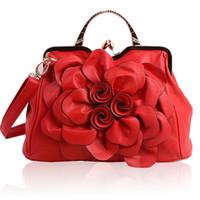 quelltaschen großhandel-Cross-Source-Quelle 2018 neue Tasche Dame Rose Blume Handtasche koreanische Art und Weise Freizeit einzigen Schultertasche T238
