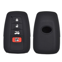 fundas para llaves toyota al por mayor-Soporte de caja de control remoto inteligente con llave negra para Toyota Camry 2018 4 botones