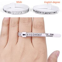 ringgrößenmesswerkzeug großhandel-Zoll-Skala-Ring-Skala, Ring-Ring, Stopp-Handgrößen-Messring-Messgurt-Finger-Screening-Tool