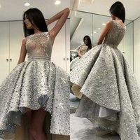 Wholesale printed plus size special occasion dresses for sale - Glamorous Sleeveless Hi Lo Prom Dressl Evening Special Occasion Dresses Sexy Party Gowns With Pearls Tiered Skirts Short Before