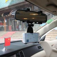 держатель ячейки оптовых-Universal Car Rearview Mirror Mount Cell Phone Holder For Xiaomi iPhone Samsung car accesories clip cute phone mount