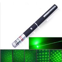 laser verde verde visível venda por atacado-2 em 1 Caneta Laser Pointer Com Estrela Cap Alta 5mW 532nm Potência Verde Profissional Lazer Ponteiro Luz Feixe Visível