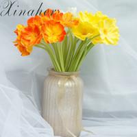 ingrosso artigianato artificiale-mini seta ciliegia artificiale papavero bouquet fai da te a mano tatuaggio corona scrapbook decorazione di nozze artigianali fiori finti