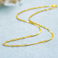 Wholesale 999 singapore gold for sale - Group buy Solid Pure K Yellow Gold Chain Women s Singapore Link Necklace inch