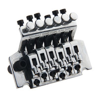 Wholesale guitar tremolo bridge double locking online - Double Locking Tremolo System Bridge For Electric Guitar Floyd Rose Parts Silver
