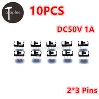 circuito de imersão venda por atacado-Atoplee 10 PCS DC50V 1A On / Off / On DPDT 2P2T 6 Pinos Interruptor Deslizante DIP Vertical Mini Interruptores para Brinquedos Elétricos Circuitos de tensão