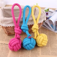 Wholesale knot braid resale online - 1pcs Dog Chew Rope Pet Supplies Puppy Cotton Durable Braided Funny Tool Single Knot Toy Pets Chews Knots Play Hot Sale rca Z