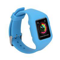 iphone saat bantları toptan satış-8 Renkler 38 MM Silikon Spor Band Spor Değiştirme Watch Band Bilek Kayışı iphone Apple iWatch Spor Sürümü için WatchBand