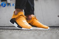 Wholesale human race red shoes online - 2018 Traderjoes With Box Human Race Sneakers Mens and Womens Running Shoes for Men Sports Shoes Yellow Black Hu Oreo