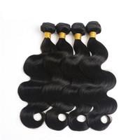 pelo remy indio 24 pulgadas al por mayor-Grado 10a Venta caliente Body Wave Hair Bundles 8-30 pulgadas 100% Remy Hair Weave 4PCS / Lot Color natural Body Wave Hair indio