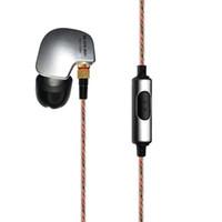 kupfer ohr haken großhandel-Kupferleiter Ohrhaken HIFI Kopfhörer Sport Kopfhörer mit Schaum Tipps für Iphone PC Smartphone Mp3 Drop Shipping