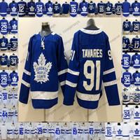 Wholesale maple leaf gold - Toronto Maple Leafs #91 Tavares 34 Matthews 16 Mitchell Marner 29 William Nylander 2018 Hockey Blue White Jersey Men Youth Women Kids S-3XL