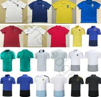 Wholesale football polo shirts - 2018 World Cup Soccer Polo Shirt France Portugal England Colombia Germany Belgium Argentina Home Away Custom Adult Football Training T-Shirt