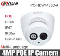 Wholesale dahua mini dome - Dahua Multi-language IPC-HDW4433C-A Starlight Mini Dome IP Camera 4MP POE replace ipc-hdw4431c-a IP67 Built-in mic CCTV Camera