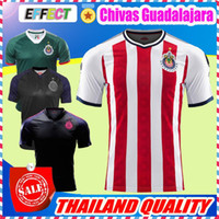 Wholesale Chivas Soccer - New Arrived 17 18 MEXICO Club Classic Chivas de Guadalajara Home Soccer Jersey 2018 Authentic Champion Camiseta de Futbol Football Shirts