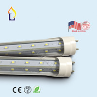 Wholesale STOCK IN US V Shaped FT FT G13 base Cooler Door Led Tube T8 Led Tube Doule Sides Cold white SMD2835 AC85 Home Light PACK