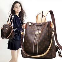bagpack women toptan satış-2017 Moda Tasarım Kadınlar Sırt Çantası Genç Kızlar için Yüksek Kaliteli Gençlik Deri Sırt Çantaları Kadın Okul Omuz Çantası Bagpack mo