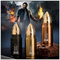 Wholesale bullet shaped - 3 Colors 350ml 500ml Creative Bullet Shape Stainless Steel Thermos Water Bottle Vacuum Mugs Coffee Mug Insulated Water Bottle CCA9277 25pcs