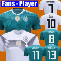 Wholesale Cup Fan - FANS PLAYER VERSION MULLER OZIL Germany soccer jersey DRAXLER 2018 WORLD CUP KROOS HUMMELS WERNER jersey football kit shirt alemania women